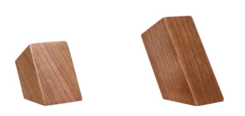 Wall wooden hooks